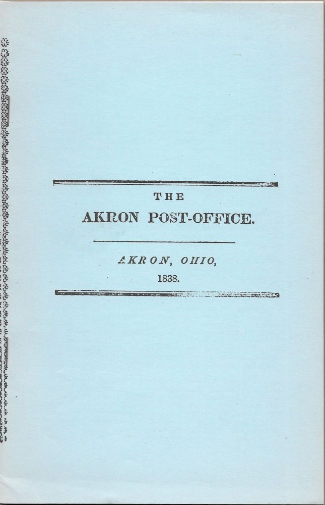 AKRON POST-OFFICE. J. D. COMMINS, P., S. A. AND CHAMBERLIN, WHEELER.