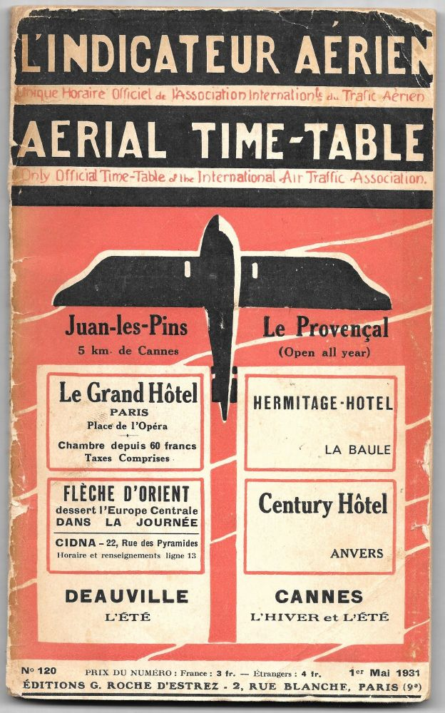 AERIAL TIME-TABLE. Only Official Time-Table of the International