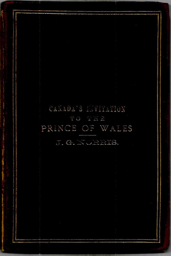 MR. J.G. NORRIS, AND THE VISIT TO CANADA OF H.R.H. THE PRINCE OF WALES