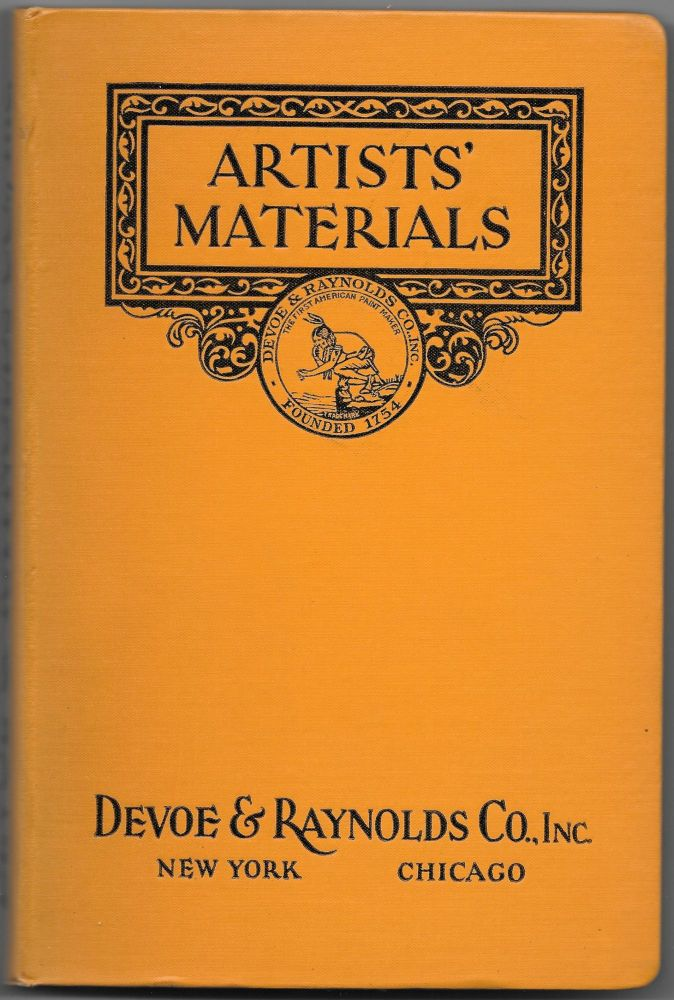 CATALOGUE OF ARTISTS' MATERIALS AND DRAWING SUPPLIES ...
