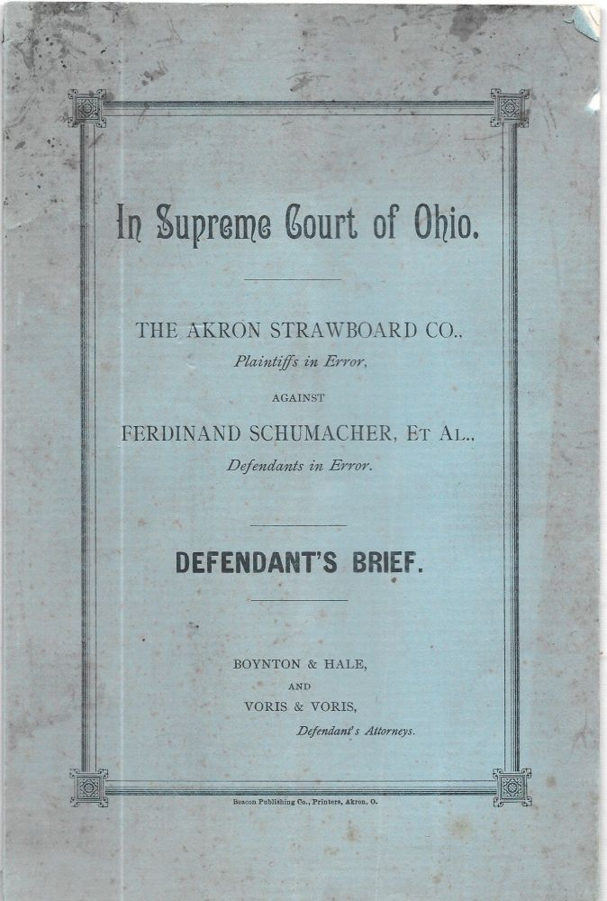 IN SUPREME COURT OF OHIO. The Akron Strawboard Co.