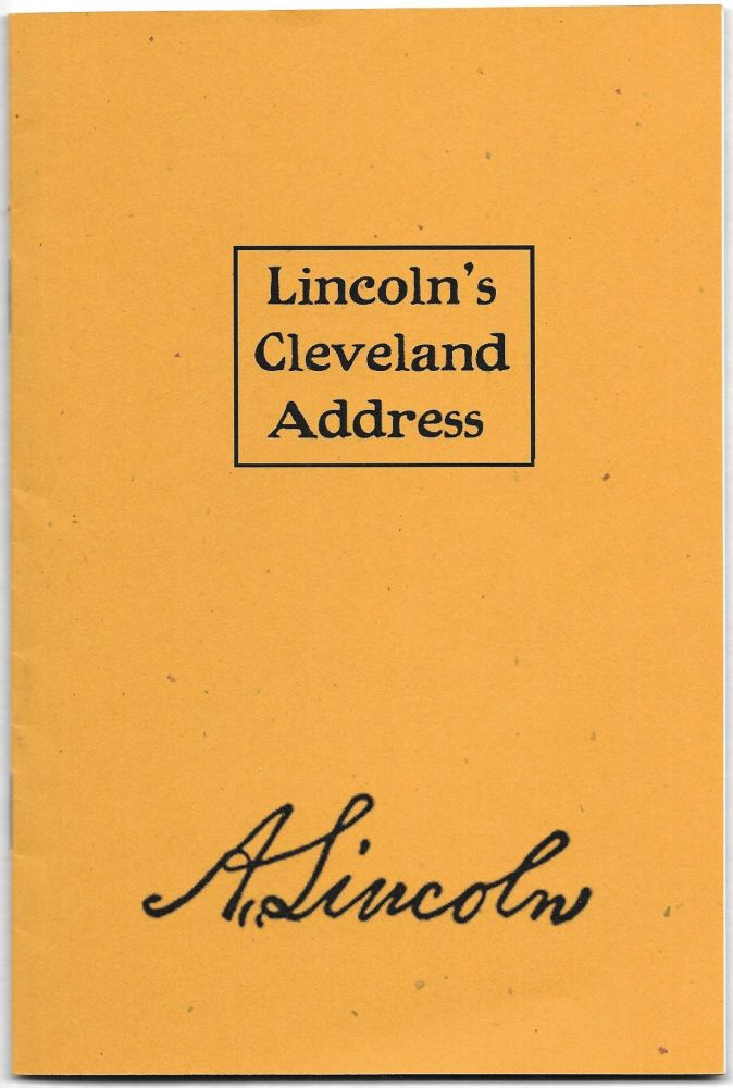 LINCOLN'S CLEVELAND ADDRESS,