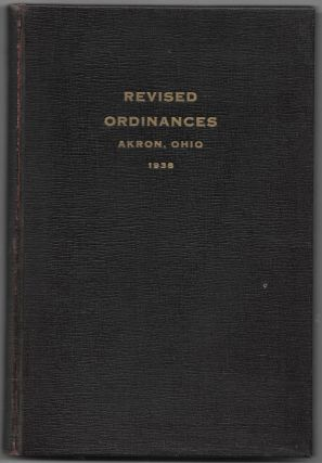 THE CHARTER AND REVISED ORDINANCES OF THE CITY OF AKRON, OHIO