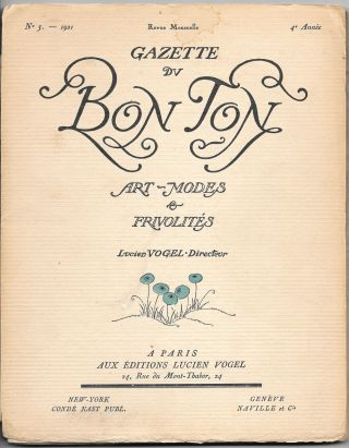 GAZETTE DU BON TON: Art Modes and Frivolites. 1921