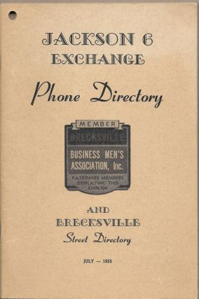 JACKSON 6 EXCHANGE PHONE DIRECTORY AND BRECKSVILLE STREET DIRECTORY