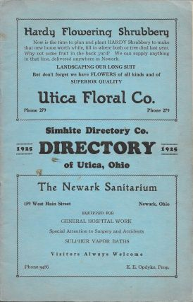 DIRECTORY OF UTICA, OHIO., 1925