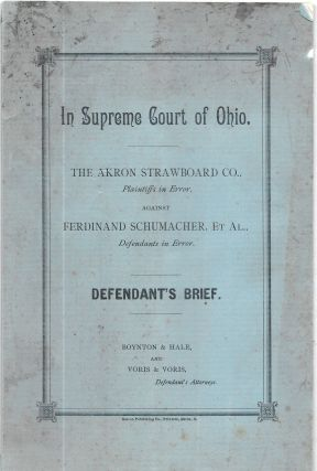 IN SUPREME COURT OF OHIO. The Akron Strawboard Co