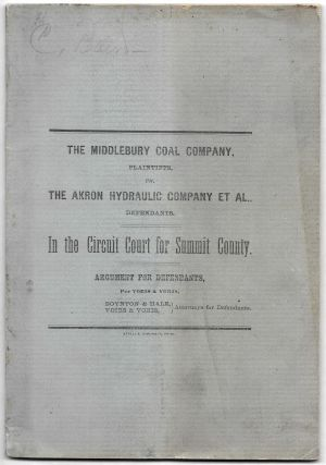 MIDDLEBURY COAL COMPANY, Plaintiffs, vs. The Akron Hydraulic