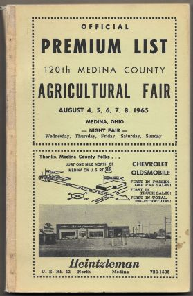 OFFICIAL PREMIUM LIST: 120th Medina County Agricultural Fair