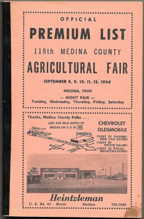 OFFICIAL PREMIUM LIST: 119th Medina County Agricultural Fair
