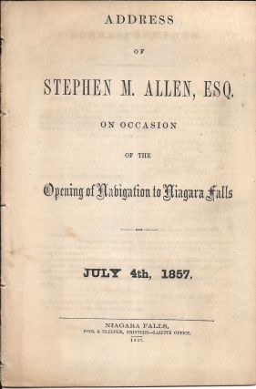 ADDRESS OF STEPHEN M. ALLED, ESQ., ON OCCASION OF THE OPENING OF. Allen. Stephen M