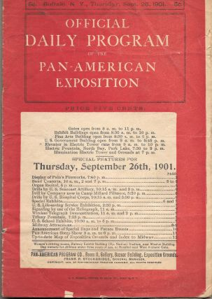 OFFICIAL DAILY PROGRAM OF THE PAN-AMERICAN EXPOSITION. (For August 3,