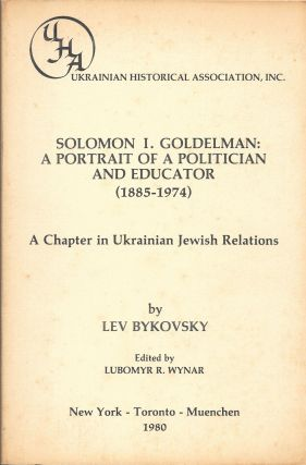 SOLOMAN I. GOLDEMAN: A Politician and Educator (1885-1974). A Chapter