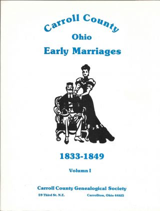 OHIO CARROLL COUNTY EARLY MARRIAGES