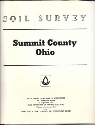 SOIL SURVEY, SUMMIT COUNTY, OHIO