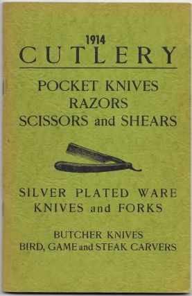1914 CUTLERY, Pocket Knives, Razors, Scissors and Shears, Silver
