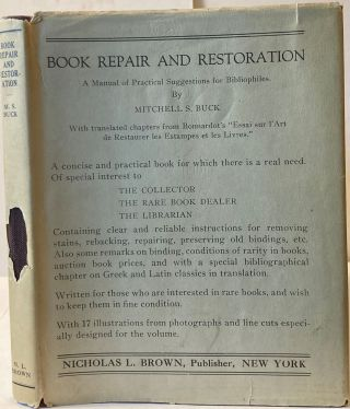 BOOK REPAIR AND RESTORATION, Mitchell S. Buck