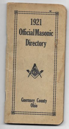 1921 OFFICIAL MASONIC DIRECTORY, GUERNSEY COUNTY, OHIO