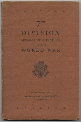 7TH DIVISION, SUMMARY OF OPERATIONS IN THE WORLD WAR